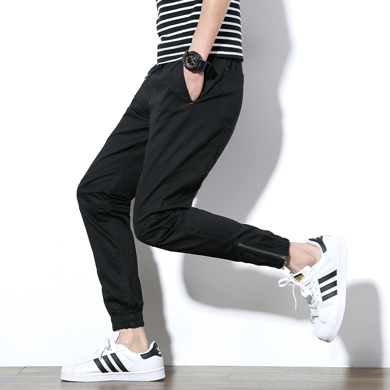 Trousers Feet-Pants Narrow Male Men's Small Spring Tide Casual with Tank Student's
