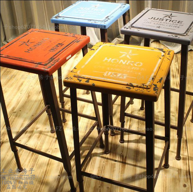 American Country Retro Bar Table Home Chairs Do The Old Style Tall Stool  Seats