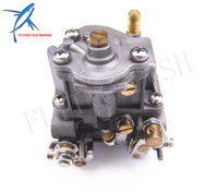 Outboard Engine 66M 14301 12 00 Carburetor Assy for Yamaha 4 stroke 15hp F15 Electric Start Boat Motor Free Shipping