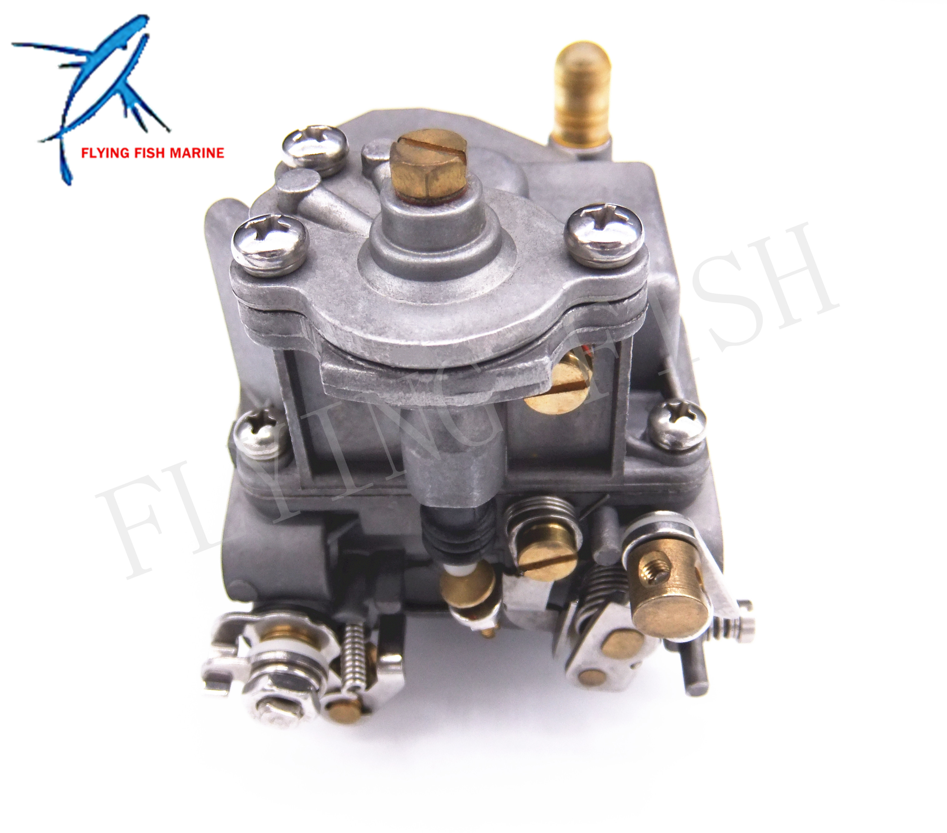 Outboard Engine 66M-14301-12-00 Carburetor Assy for Yamaha 4-stroke 15hp F15 Electric Start Boat Motor Free Shipping