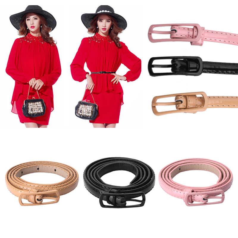 النساء فساتين الديكور الطلاء الطلاء متعدد الألوان رقيقة حزام حزام جلد الاصطناعي فتاة الموضة الخصر زنار
