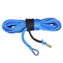 blue 14mm x 30meters synthetic winch rope / winch line