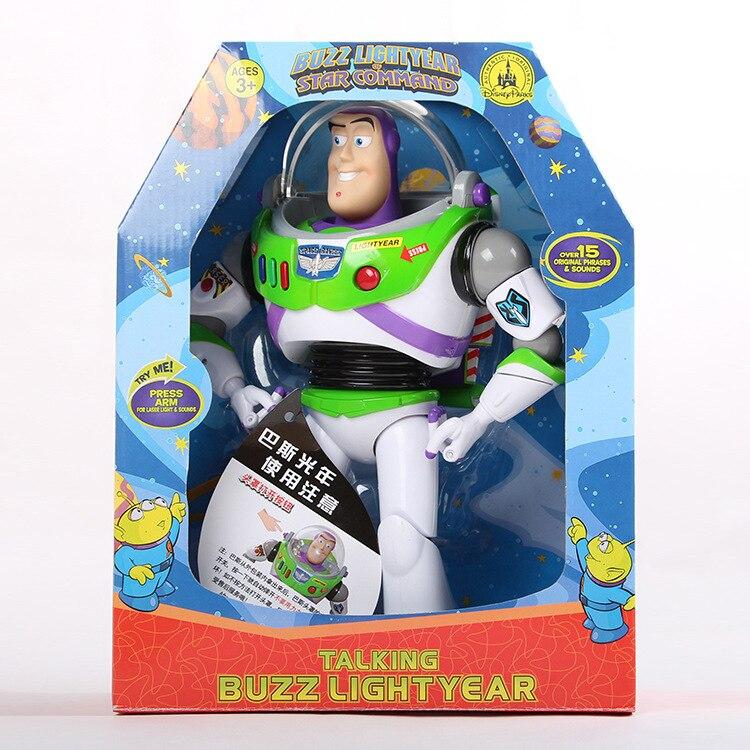 2019 nova 12 polegada Sobre 33 cm Falando Buzz Lightyear de Toy Story PVC Action Figure Collectible Boneca Brinquedos Presente para crianças dos miúdos