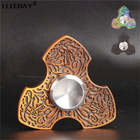 Creative Private Mold Cross Fidget Spinner Newest Finger Spinner Guardian Three Leaf Zinc Alloy Decompress EDC
