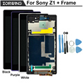 100% No Dead Pixel Guarantee LCD Display For Sony Xperia Z1 Screen C6903 L39H C6902 C6906 With Touch Screen Digitizer + Frame