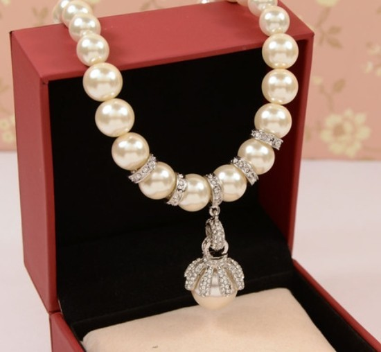 hand made kpop luxury brand short  big  pearl  CC necklace women jewelry wholesale/colar/collier/perolas/bijuterias atacado