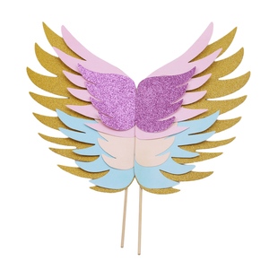 Image 3 - Unicorn Wings Wedding Cake Topper For Decor Mariage Valentines Day Decoration Wing Cake Topper Party Supplies Baking Accessoires