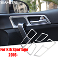 For KIA Sportage QL 2016 LHD Car Inner Door Handle Bowl Covers ABS Chrome Trim Chromium Styling Interior Decoration Accessories