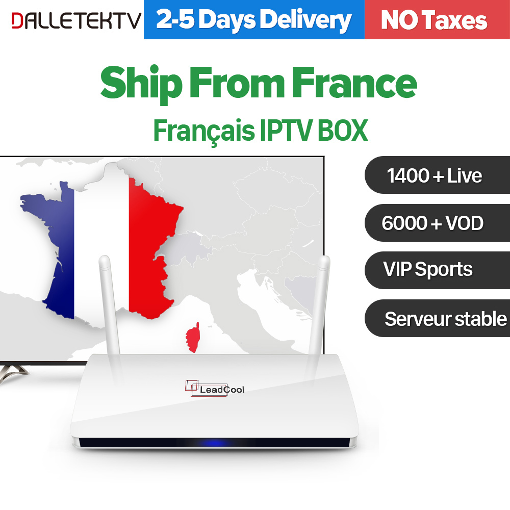 लीडकोल फ्रांस आईपीटीवी रिसीवर एंड्रॉइड बॉक्स वाईफ़ाई स्मार्ट टीवी बॉक्स