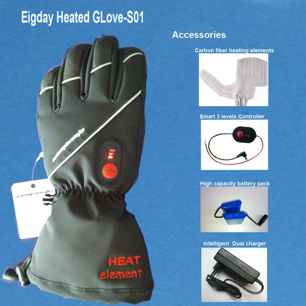 Motorcycle gloves heated battery - 4v 2000mah Outdoor Sports Leisure Heated Gloves Ski Gloves 2016 Skating Motorcycle Ride Warm Winter Gloves Lithium Electricity