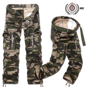 Image 5 - New Fashion Men Casual Military Cargo Pants Camo Combat Loose Straight Long Baggy camouflage Trousers Plus Size