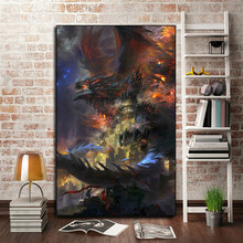World Of Warcrafts  Wallpaper Canvas Posters Prints Wall Art Oil Painting Decorative Picture Bedroom Home Decoration HD