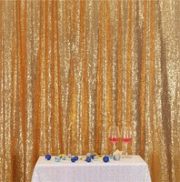 Shiny Gold Sequin Backdrop Curtain 10ftx8ft Sparkly Sequin Fabric Photo Booth Backdrop Curtain Wedding Birthday Party Decoration