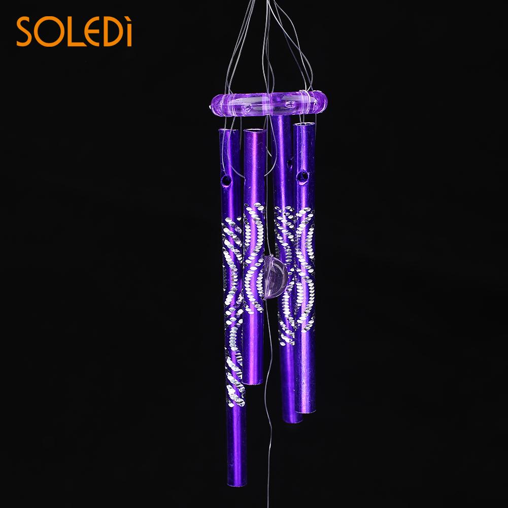 Dolphin Wind Chime Bell Metal Tubes Home Hanging Decor Blessing Good Luck(China)
