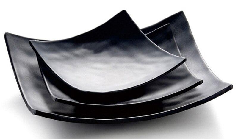 Melamine Dinnerware Dinner Plate Square Rake Angle Plate Hot Por