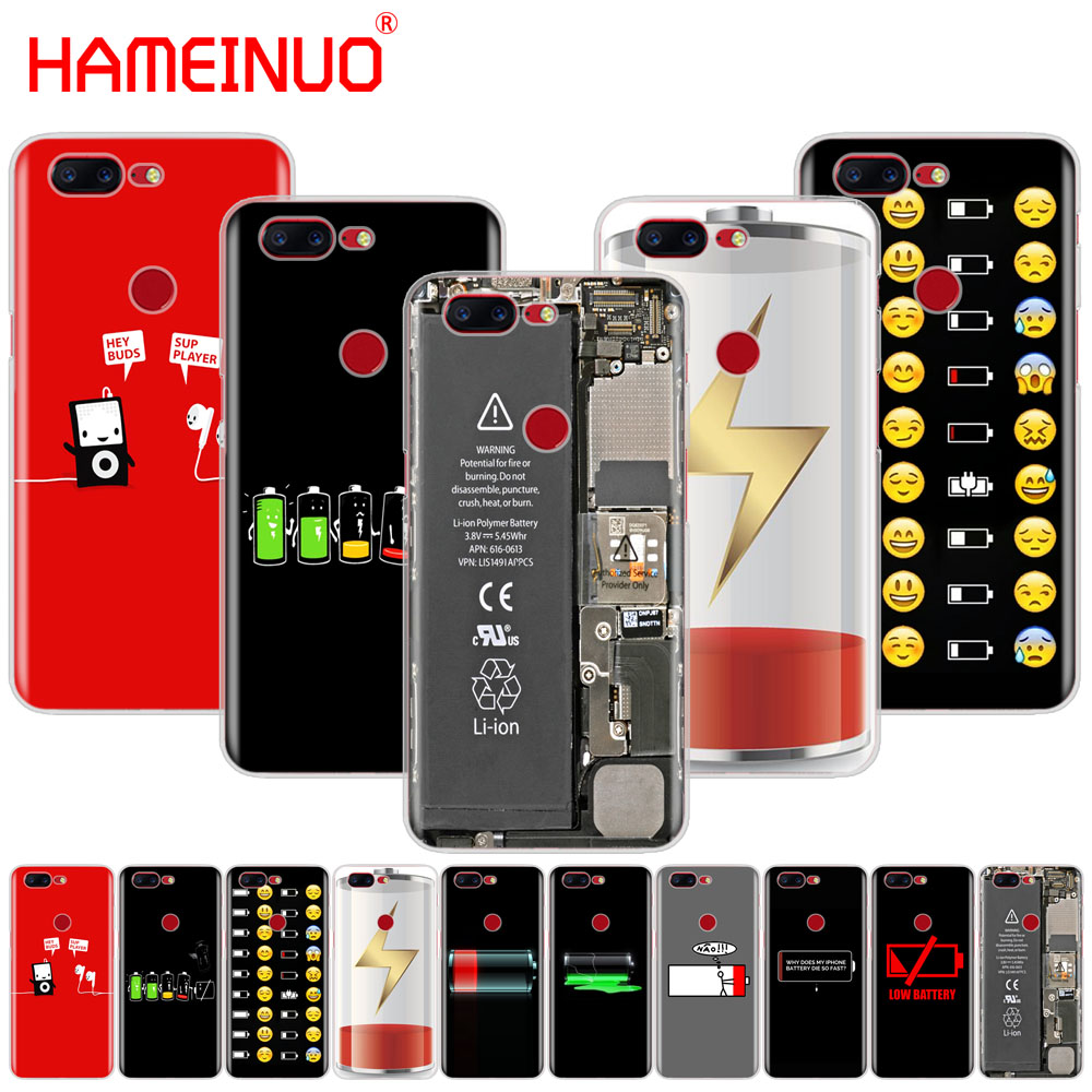 HAMEINUO <font><b>Battery</b></font> Life Cycle Funny Clear cover phone case for Oneplus <font><b>one</b></font> <font><b>plus</b></font> 5T 5 3 <font><b>3t</b></font> 2 X A3000 A5000 image