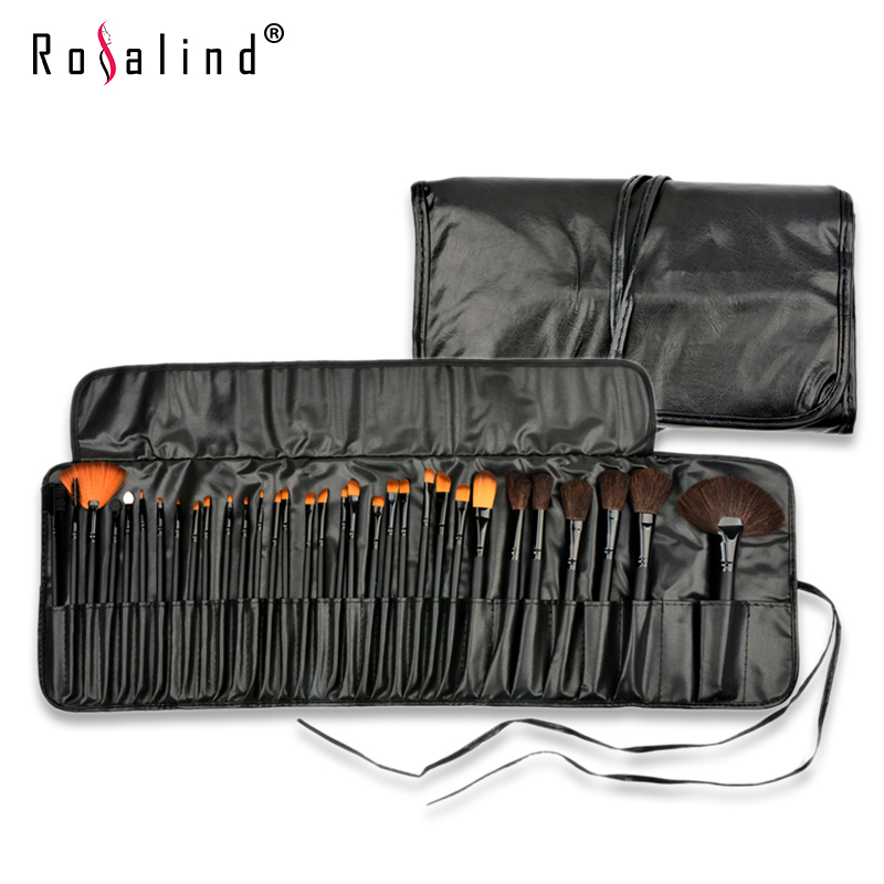 Rosalind New Professional 32 Pcs/Set Makeup Brushes High Quality Facial Cosmetic Kit Beauty Bags Set Makeup Free Shipping lit 11 in 1 professional cosmetic makeup brushes set brown coffee 11 pcs