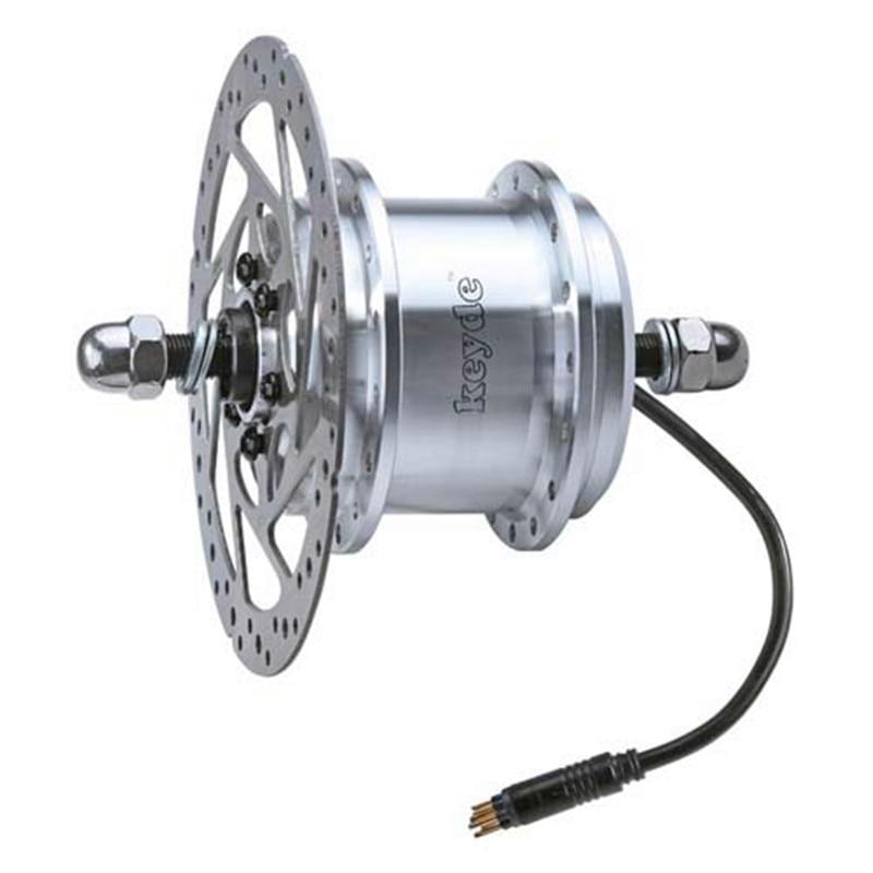 2.3Kg Max 24V/33V/36V 500W Built-in controller disc brake front hub motor for electric bike&electric bicycle