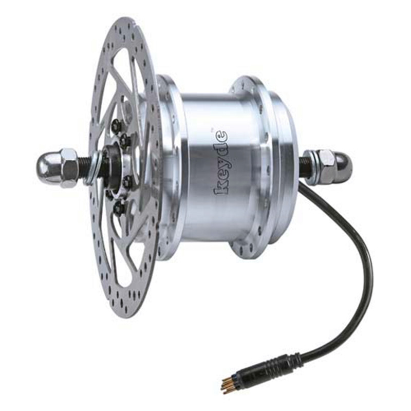 2.3Kg Max 24V/33V/36V 500W Built-in controller disc brake front hub motor for electric bike&electric bicycle