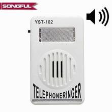 95dB Extra fort téléphone sonnerie téléphone sonnerie amplificateur sonnerie aide stroboscopique lumière cloche son téléphone fixe sonnerie son sonneries