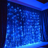 New Year 3M X 3M 300 Led Christmas Lights Outdoor Decoration Fairy Wedding Curtain String Luces