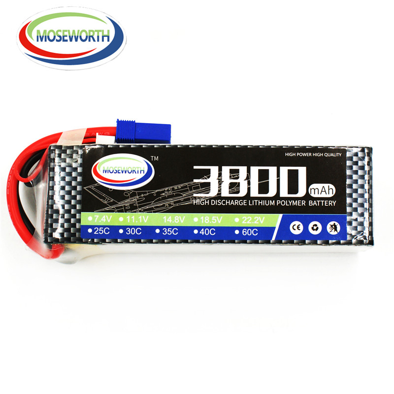 MOSEWORTH RC Lipo Battery 22.2v 6S 40C 3800mAh For RC Aircraft Helicopter Car Drones Boat Quadcopter Airplane Li-polymer 6S AKKU 2pcs li polymer lipo battery 7 4v 300mah 30c for wltoys f959 rc airplane helicopter quadcopter drone spare toy parts