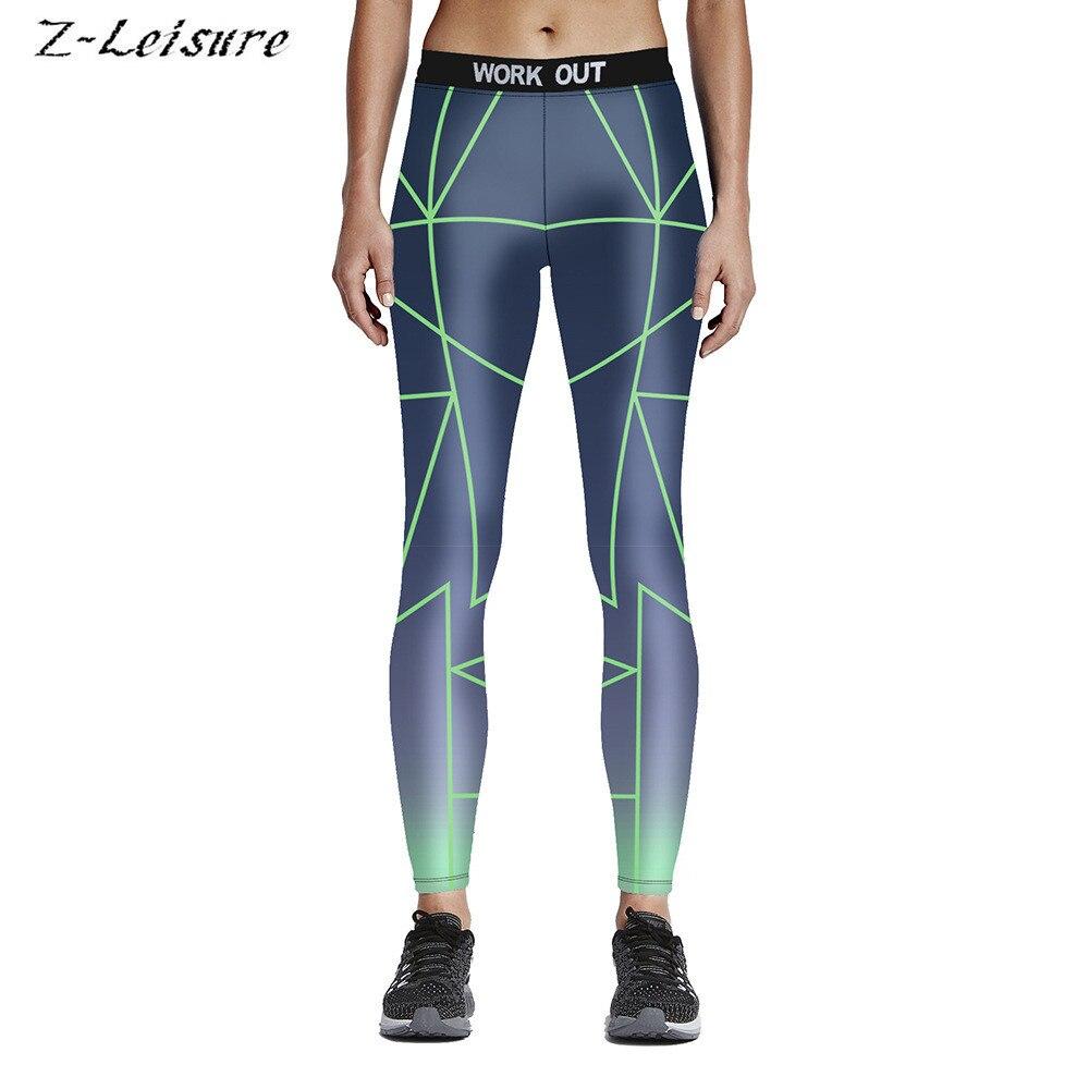 Fitness Workout Sports Leggings Sexy Print Yoga Pants -7164