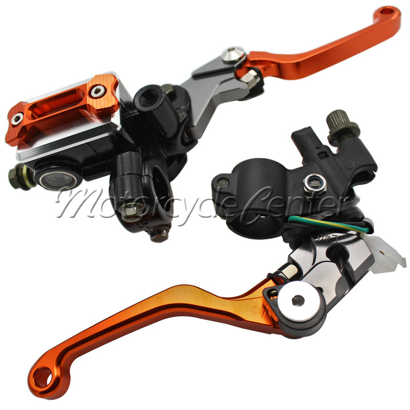7/8 22mm Brake Hydraulic Master Cylinder Kit Reservoir Levers For Yamaha YZ 80 85 WR 250F 450F 250R/X TTR 600 125 SEROW 225 250