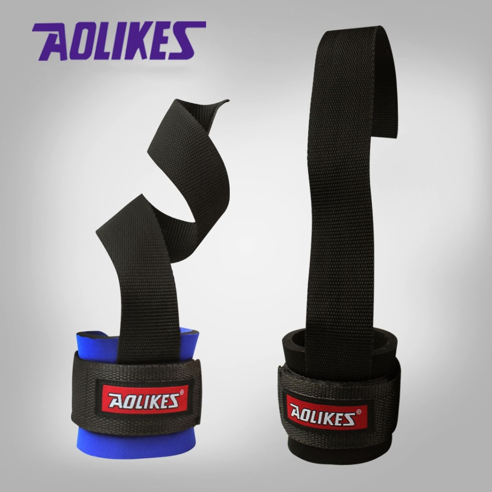1 Pair Weight Lifting Hand Bar Grips Straps Wrist Support: AOLIKES 1 Pair Gym Sport ( ^ ^)っ Wristband Wristband