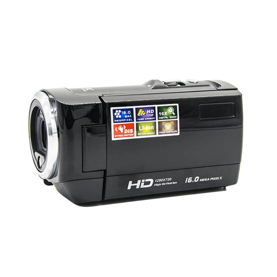 2.4 inch HD digital camcorder camera photoinstrument cameras DV DVR TFT LCD 16X Digital Zoom 16MP CMOS Digital Video цена