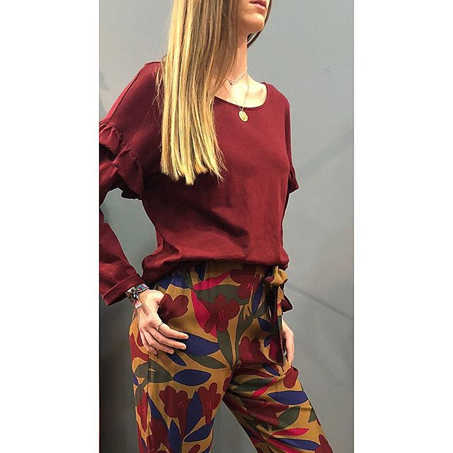 French sweetheart match colors new style female loose straight trousers with belt