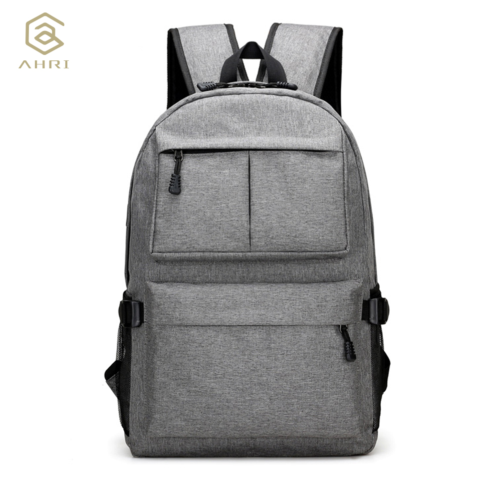 AHRI USB Unisex Design Backpack Book Bags for School Backpack Casual Rucksack Daypack Oxford Canvas Laptop Fashion Man Backpacks 1