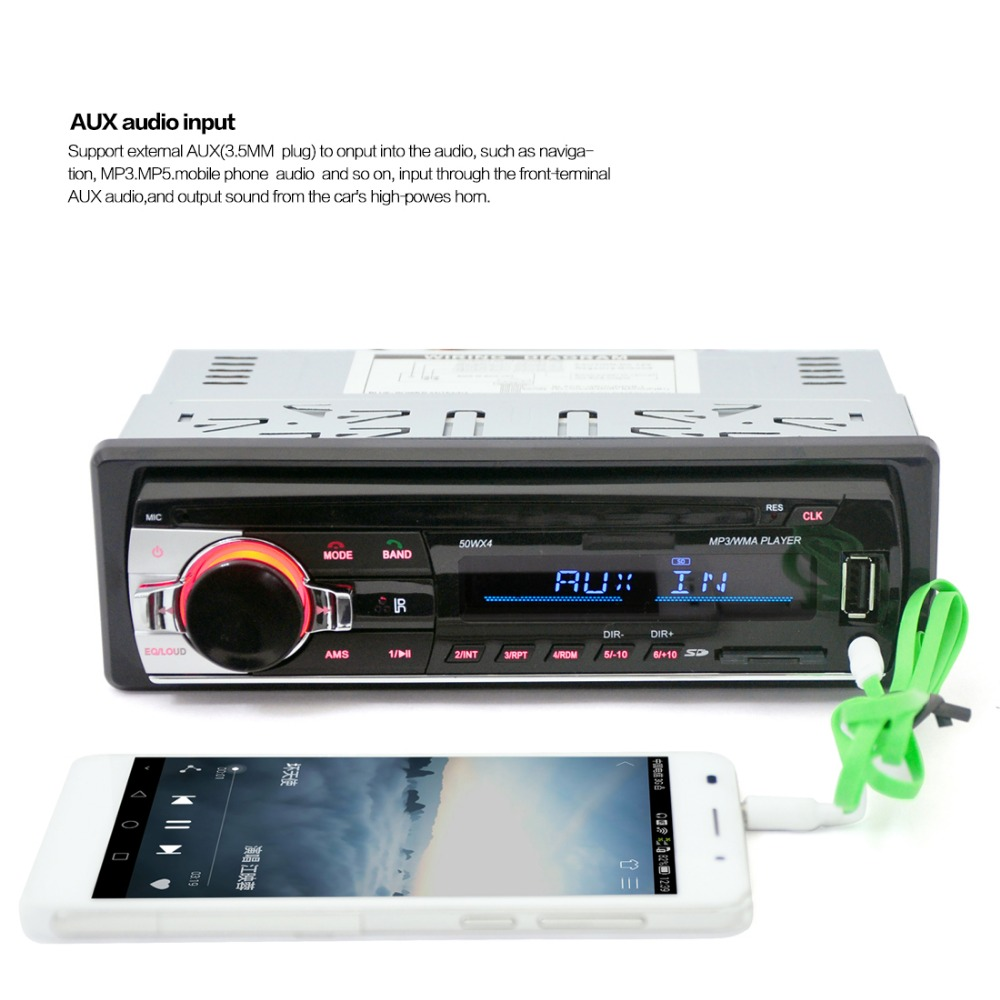 BT3.0 Bluetooth Auto Stereo FM-radio Auto MP3 Audio Speler 5V Oplader USB / SD / AUX / APE / FLAC Auto Elektronica Subwoofer In-Dash 1 DIN