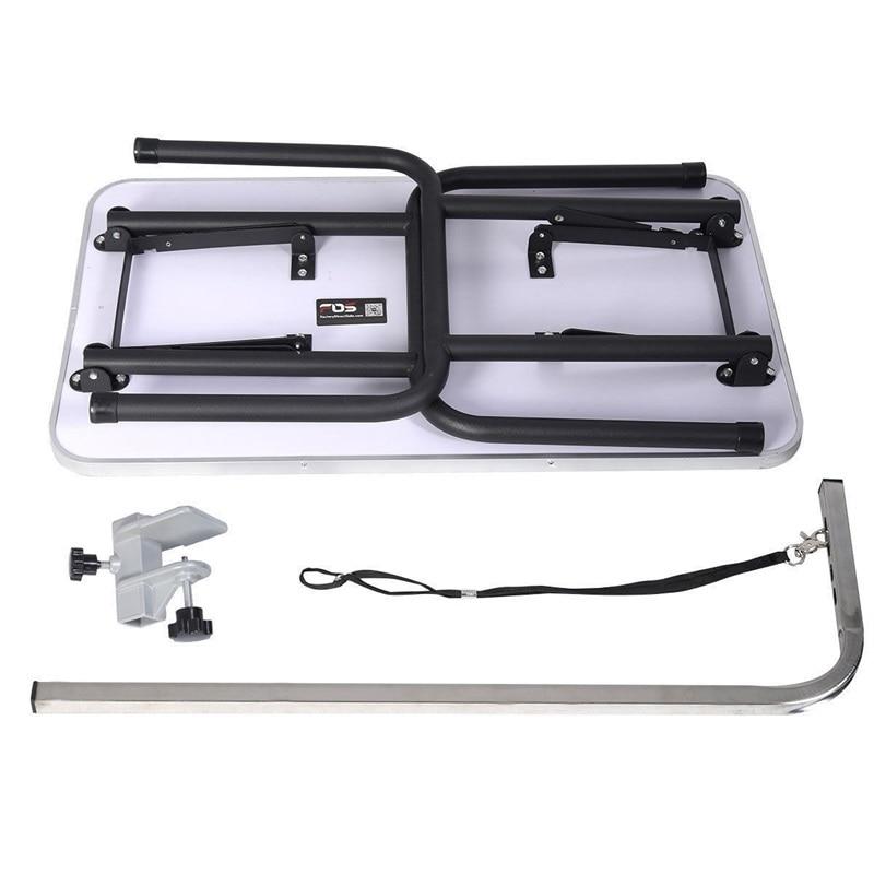 Черный 32 Регулируемый складной стол для ухода за собакой с ручкой и петлей Легкая очистка товары для домашних животных PS7112 - 5