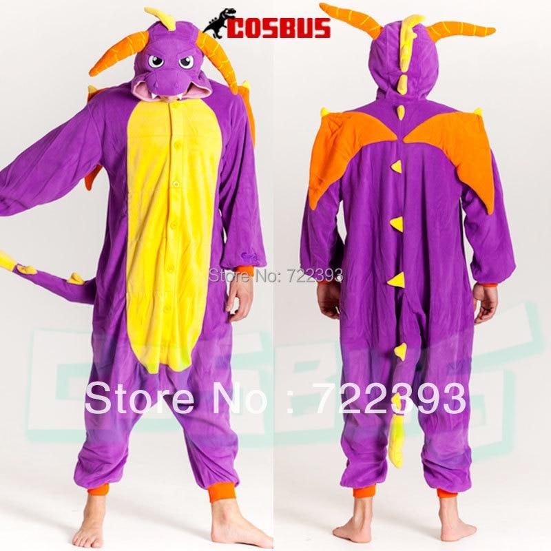 COSBUS fleece / Royal Dragon Spyro pajamas animals Onesies Pyjamas Pokemon COSPLAY Costume Sleepwear Sleepsuit for adult-in Pajama Sets from Womenu0027s ... & COSBUS fleece / Royal Dragon Spyro pajamas animals Onesies Pyjamas ...
