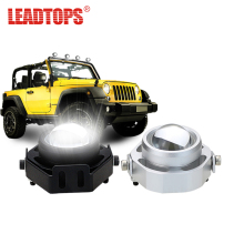 цена на LEADTOPS LED DRL Car Fog Lights Waterproof 1000LM DRL Eagle Eye Daytime Running Light Reverse Backup Parking Foglight 10W CCC BJ