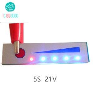 Image 1 - 5 S 21 V Capacité De La Batterie Au Lithium Indicateur module daffichage à LED Batterie Indicateur de Niveau Testeur pour 5 pièces Lipo Li ion Batterie