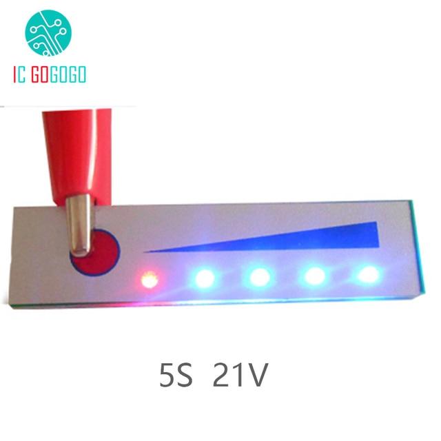 5 S 21 V Capacité De La Batterie Au Lithium Indicateur module daffichage à LED Batterie Indicateur de Niveau Testeur pour 5 pièces Lipo Li ion Batterie