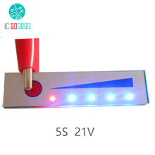 5 S 21 V Lityum Pil Kapasitesi Göstergesi modül LED ekran Kartı Pil Güç Seviyesi Ölçer Test Cihazı 5 adet Lipo li ion pil