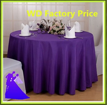 Marious Brand Dark Purple Round Wedding 120inch Table Cloth Polyester Free  Shipping