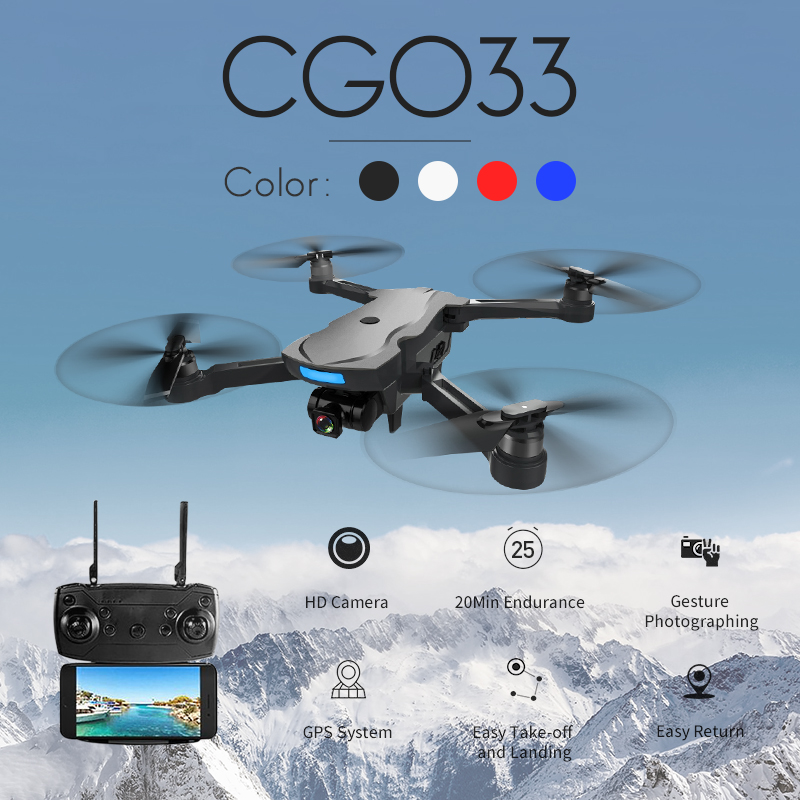 CG033 Drone WiFi FPV w/HD 1080 p Cardan CameraMode 2 Servo Sans Brosse Pliable AOSENMA RC Hélicoptère de Drone enfants Cadeau