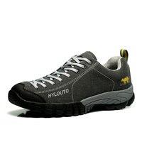 Automne/Hiver Hommes Randonnée Chaussures Hommes En Plein Air 2016 Nouveau En Cuir En Plein Air Sport Sneakers Montagne Bottes Hommes Chaussures Taille de Suivi 11