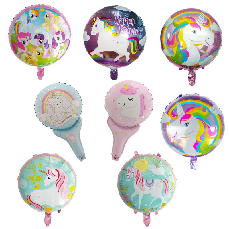 50pcslot 18 inch unicorn balloon with happy birthday letter balloons birthday party decorations for kids unicorn party favors