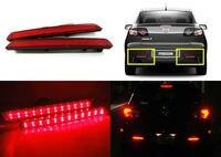 CYAN ĐẤT BAY 2X Red Lens 24 LED Rear Bumper Reflector Tail Phanh Nhẹ 04-09 Đối Với Mazda3 Mazda 3 Axela Mazdaspeed3