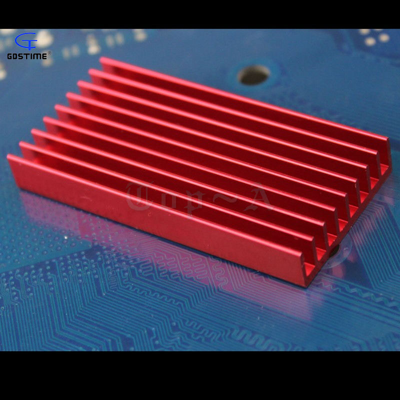 Computer Components Fans & Cooling Fine Gdstime 1 Pcs 60x30x8mm Aluminum Heat Sink For Computer Led Power Ic Transistor Rose Red Color 60mm X 30mm X 8mm Hot Sale 50-70% OFF