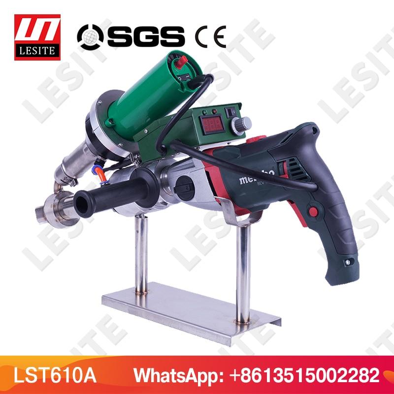 220V Plastic extrusion welder machine vinyl weld extruder hot air welder gun geomembrane repair seam welding gun