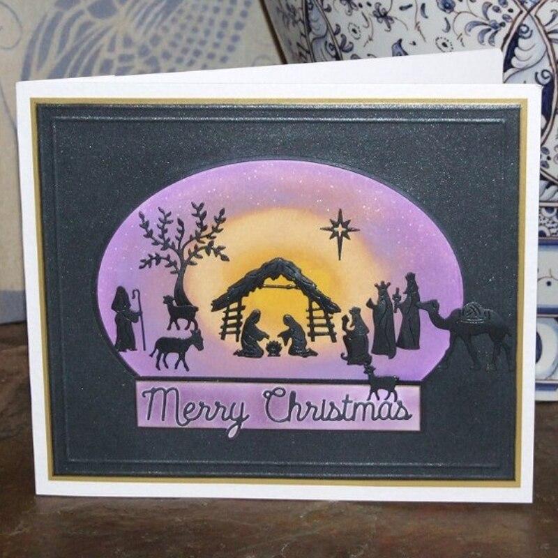 Happy Jesus Nativity Metal Cutting Dies DIY Scrapbooking Photo Album Crafts UK
