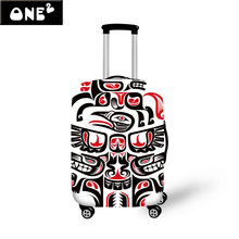 Fashionable Totem Baggage Cover Apply to 22-26 Inch Suitcase Elastic Travel Luggage Dust Covers