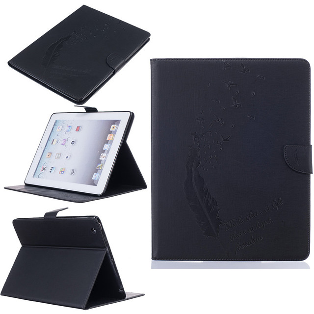 quality For Apple iPad 4 case Book style PU Leather Protective Skin for iPad 2 3 Cover