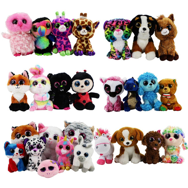 Ty Beanie Boos Plush Baby Toys Beanie Babies Unicorn Owl Pink Dolphin  Turtle Penguin Dragon Dog Animals Soft Baby Dolls 818a2f19292